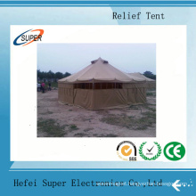 Factory Offer Galvanized Steel Two Layer Disaster Relief Tents